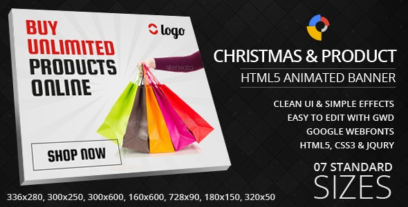 Shopping and Product Sale 2 Different Variations-HTML5 Ad Banner - CodeCanyon Item for Sale