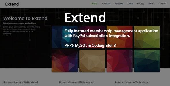 Extend - Memebership Management Application - CodeCanyon Item for Sale