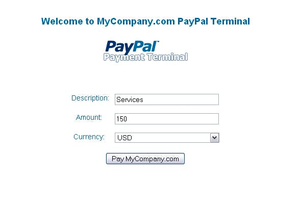 PayPal Payment Terminal        Nulled