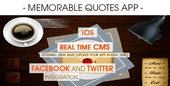 Memorable Quotes App With CMS - iOS [ 2020 Edition ]