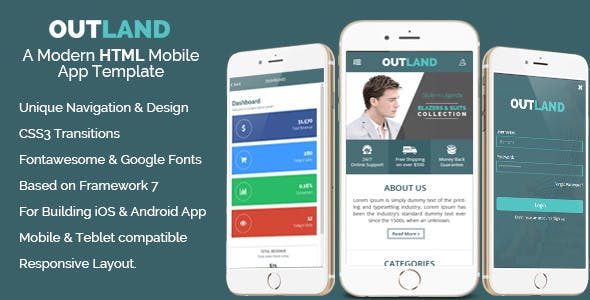 Outland - iOS & Android Mobile App Template