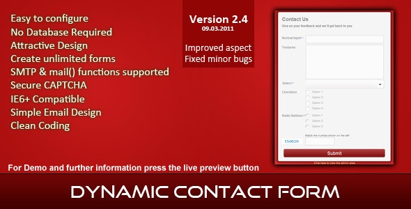Easy Contact Form - CodeCanyon Item for Sale