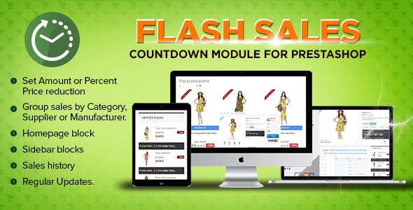 Prestashop Flash sales module - Countdown specials