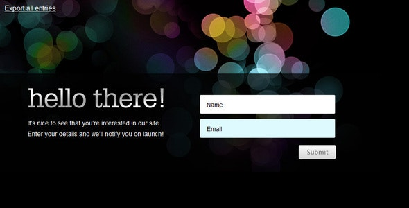 Beta Splash Page Email Signup Form - CodeCanyon Item for Sale