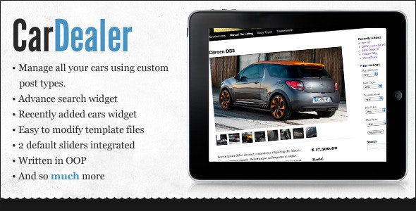 WordPress Car Dealer - CodeCanyon Item for Sale