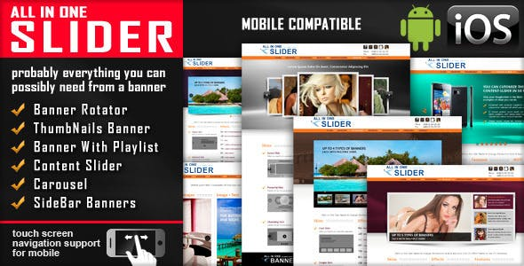 All In One Slider Responsive Jquery Slider Plugin        Nulled