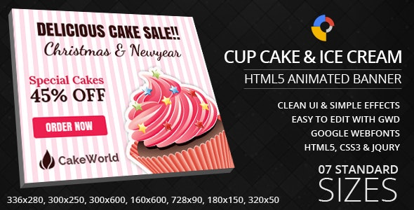 HTML5 - GWD - Cakes and Ice Cream - CodeCanyon Item for Sale