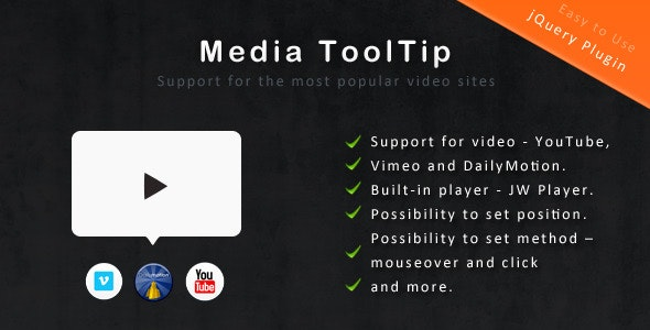 jQuery Media ToolTip - CodeCanyon Item for Sale