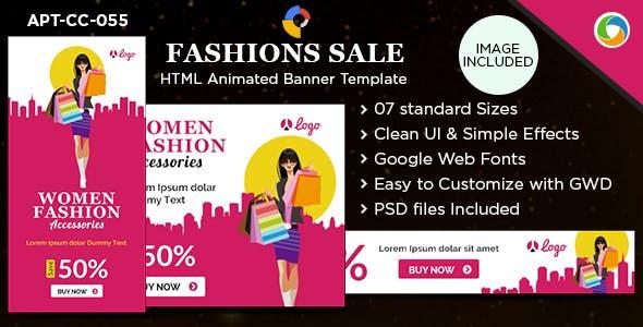 HTML5 Fashion Banners - GWD - 7 Sizes