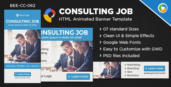 HTML5 Consultant Service Banners - GWD - 7 Sizes - CodeCanyon Item for Sale