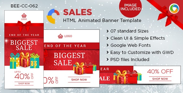 HTML5 E-Commerce Banners - GWD - 7 Sizes - CodeCanyon Item for Sale