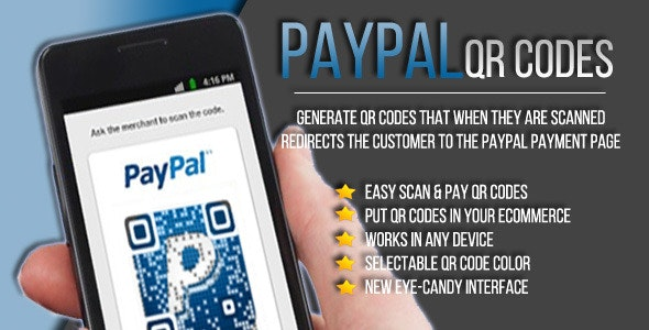 Paypal QR generator - CodeCanyon Item for Sale
