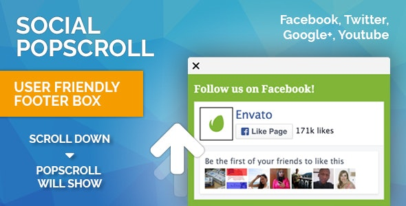 Popscroll: Facebook Fanpage Like Scroll Popup Slider Box for Wordpress - CodeCanyon Item for Sale