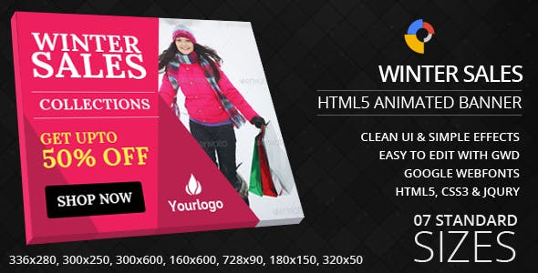 Winter Sales - HTML5 ad banners