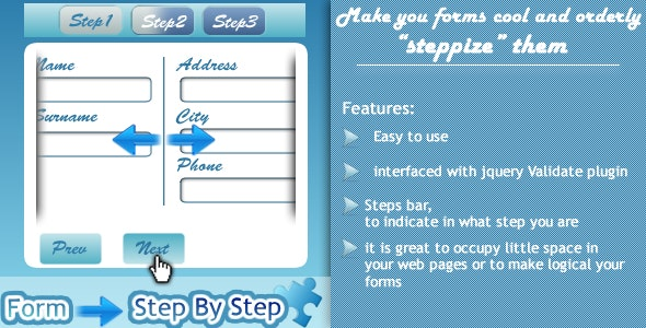 """""""Steppize"""" Form Step By Step - CodeCanyon Item for Sale"""