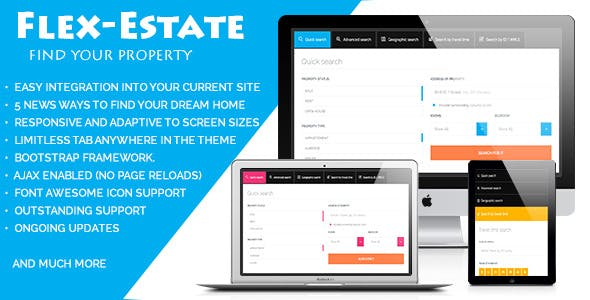 Flex-Estate – Responsive Form To Find Property