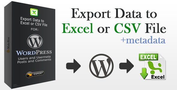 Export Wordpress Data to EXCEL or CSV file - CodeCanyon Item for Sale