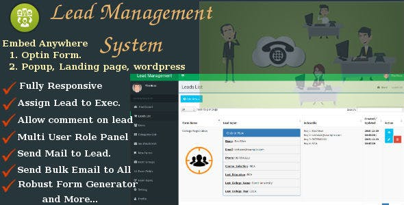 iLead v2 - Lead Management System with Comment and Form Builder