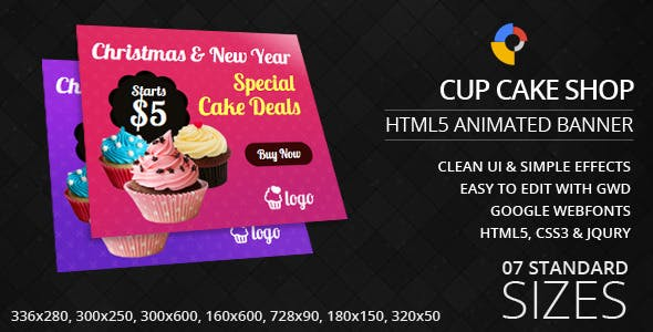 Christmas and New Year Cakes - GWD - HTML5