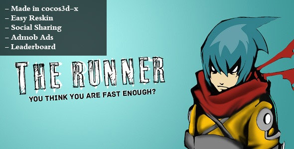 The Runner + AdMob + Leaderboard - CodeCanyon Item for Sale