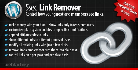 5sec Link Remover - a membership extension plugin - CodeCanyon Item for Sale