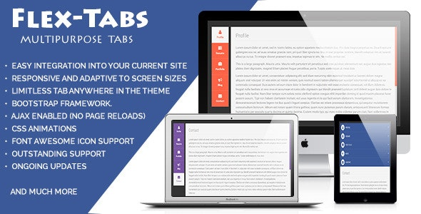 FlexTabs: Responsive Tabs to Accordion  - CodeCanyon Item for Sale