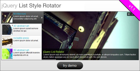 jQuery List Style Rotator