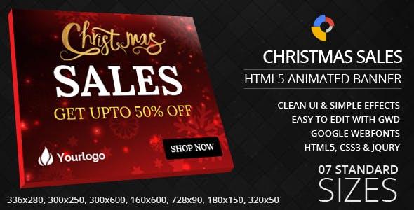 Christmas Sales - HTML5 Ad Banners