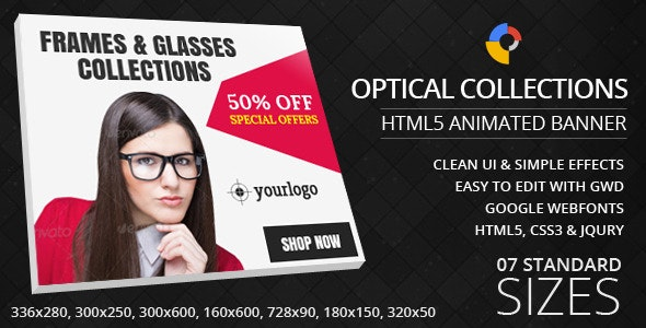 Optical Collections - HTML5 Ad Banners - CodeCanyon Item for Sale