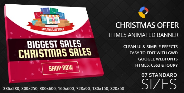 Christmas Offers - GWD Ad Banners - CodeCanyon Item for Sale
