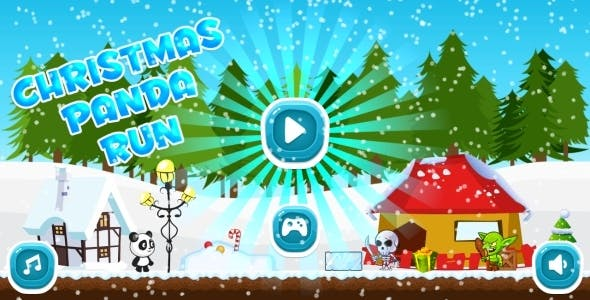 Christmas Panda Run - HTML5 Mobile Game in HD + Android AdMob (Construct 3 | Construct 2 | Capx)