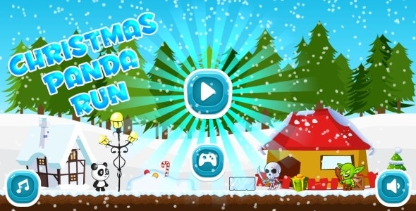 Christmas Panda Run - HTML5 Mobile Game in HD + Android AdMob (Construct 3 | Construct 2 | Capx) - CodeCanyon Item for Sale