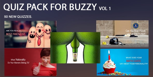 50 Quiz Pack for Buzzy Vol 1 - CodeCanyon Item for Sale