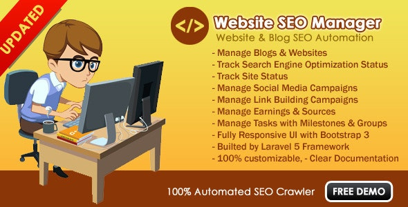 Website SEO Manager - CodeCanyon Item for Sale