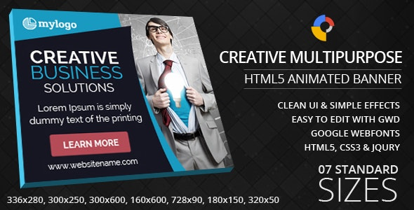 Creative Multipurpose - HTML5 Animated Banner - CodeCanyon Item for Sale