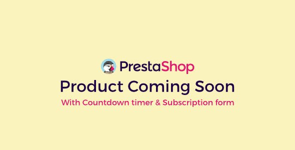 Prestashop Product Coming Soon With Countdown & Subscription