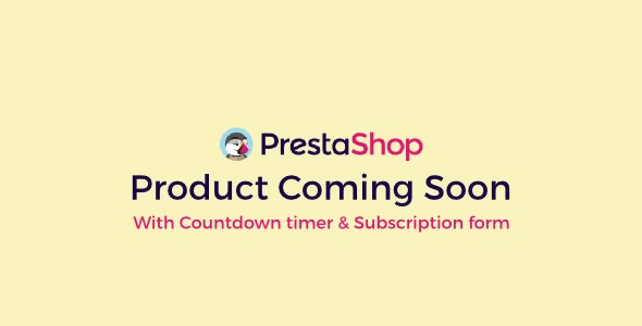 Prestashop Product Coming Soon With Countdown & Subscription - CodeCanyon Item for Sale