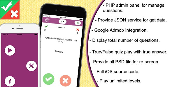 True or False for iOS by arkayapps | CodeCanyon
