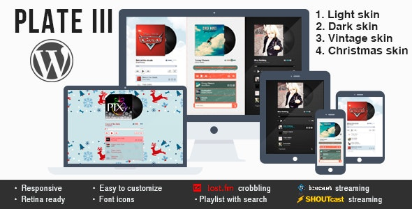 Plate III - music & streaming plugin for Wordpress - CodeCanyon Item for Sale