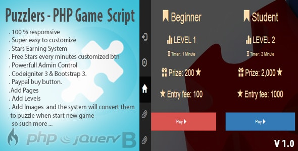 Puzzlers - PHP Modern Game Script - CodeCanyon Item for Sale