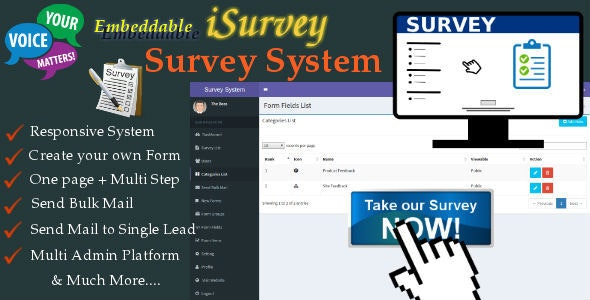 iSurvey - Survey Management System with Form Builder - CodeCanyon Item for Sale