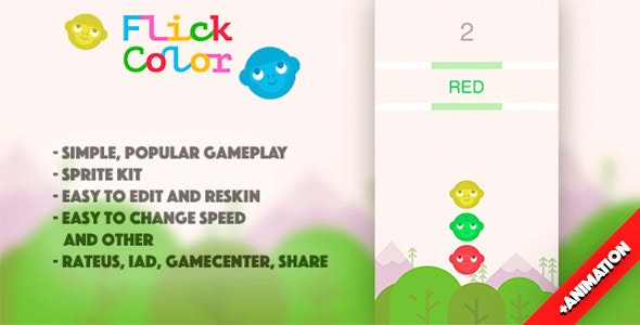 Flick Color (+ Animation) - CodeCanyon Item for Sale