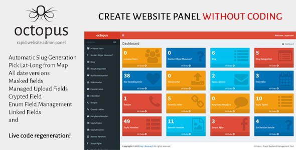 Octopus - Rapid Website Admin Panel