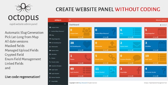 Octopus - Rapid Website Admin Panel by bayiresearchco