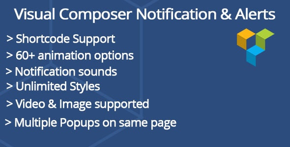 Visual composer Notifications & Alerts - CodeCanyon Item for Sale
