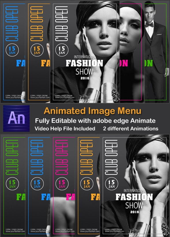 Animated Image Menu - CodeCanyon Item for Sale