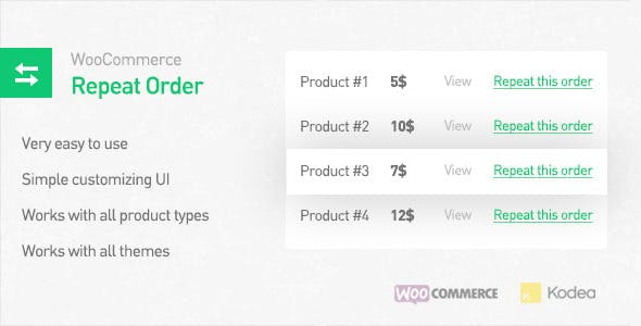 WooCommerce Repeat Order