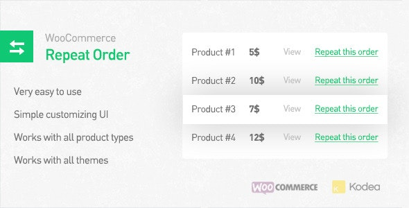 WooCommerce Repeat Order - CodeCanyon Item for Sale