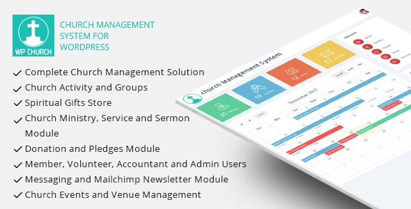 WPCHURCH - Church Management System for Wordpress - CodeCanyon Item for Sale