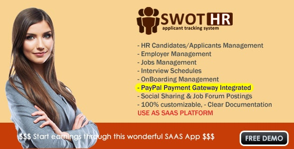 HR Applicant Tracking System (Saas App) - CodeCanyon Item for Sale
